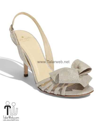 2011 bridal heels metallic wedding trend kate spade bow detail 2.full  - مدل های زیبا از کفش عروس
