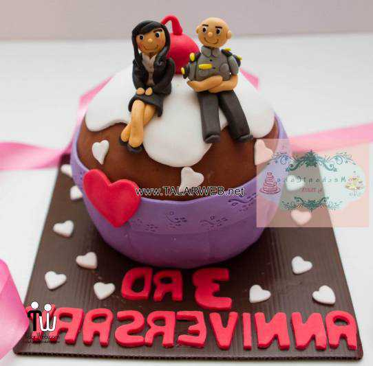 ۳rd-wedding-anniversary-cake