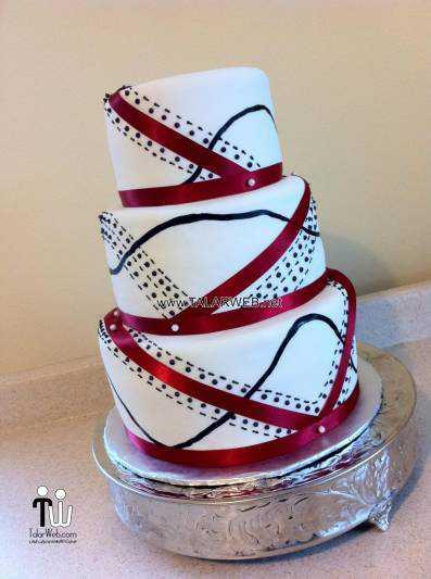 all black wedding cakes - عکس های مدل کیک عروسی