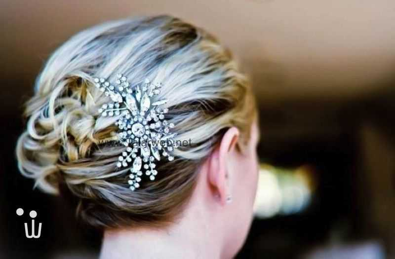art deco bridal hair comb.full  - مدل گل سر برای عروس