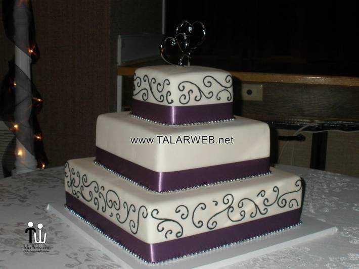 black-and-purple-wedding-cakes