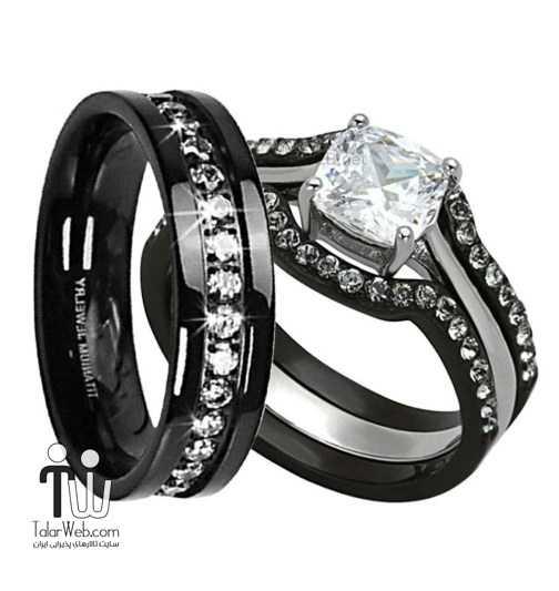 black-wedding-band-sets