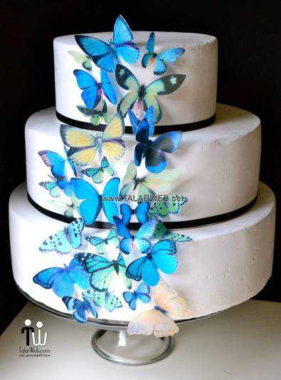blue-and-green-wedding-cakes