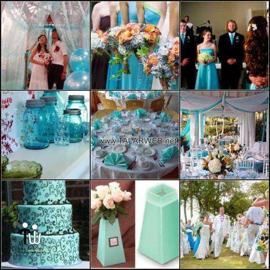 blue and green wedding color schemes - مدل های کیک عروسی