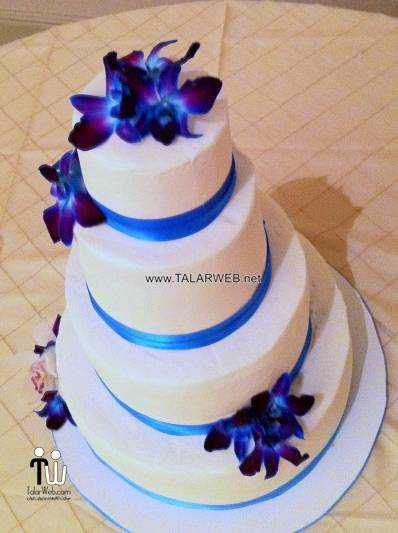 blue and purple wedding cakes - مدل های کیک عروسی