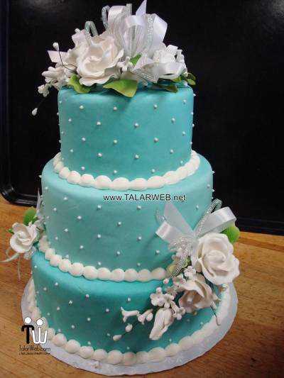 cake boss wedding cakes blue - مدل های کیک عروسی