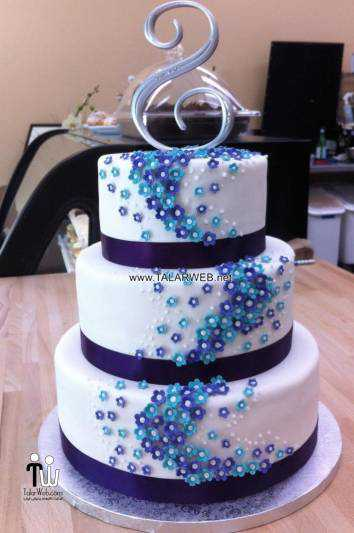 cake boss wedding cakes purple - مدل های کیک عروسی