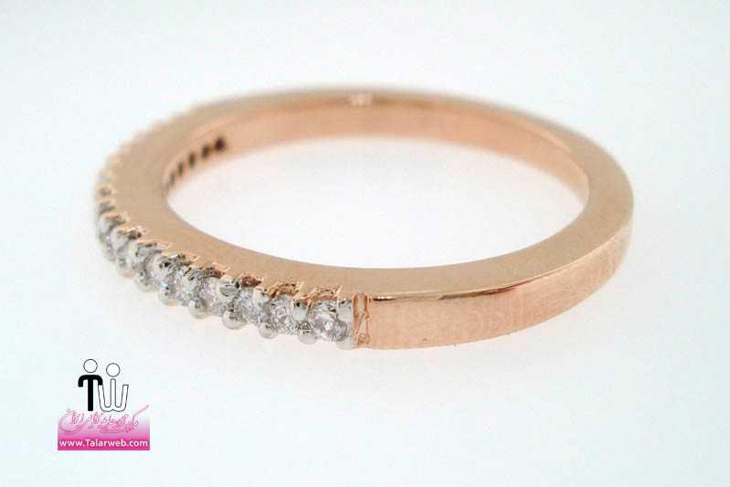 chunky rose gold wedding band with inset diamonds.full  - حلقه عروسی و انگشتر نامزدی ۳