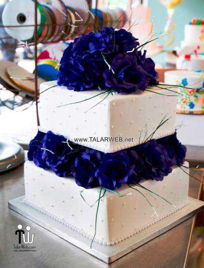 cobalt blue wedding cakes - مدل های کیک عروسی