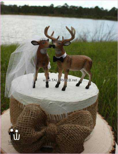 country wedding cake toppers deer - مدل های کیک عروسی