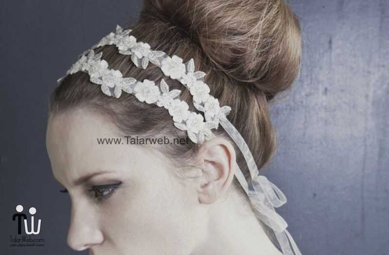 delicate daisy floral headband.full  - مدل گل سر برای عروس