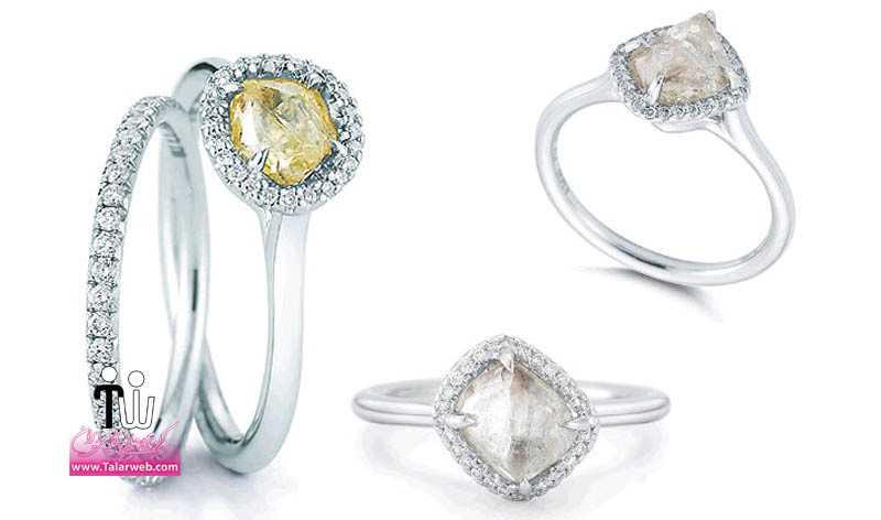 diamond in the rough engagement rings pave rough diamond wedding band.full  - مدل های زیبای انگشتر و حلقه عروس ۱