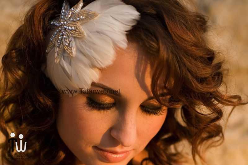 feather fascinator for vintage brides.full  - مدل گل سر برای عروس
