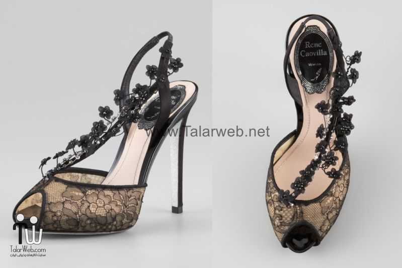 illusion wedding shoes for 2013 brides black lace.full  - مدل های زیبا از کفش عروس