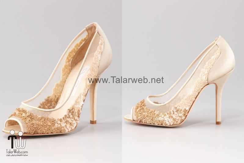 illusion wedding shoes for 2013 brides oscar de la renta.full  - مدل های زیبا از کفش عروس