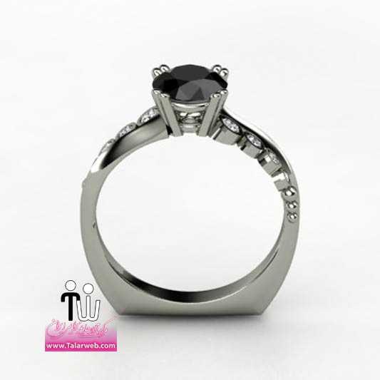 isabella engagement ring modern black diamond 2.full  - مدل های زیبای انگشتر و حلقه عروس ۱