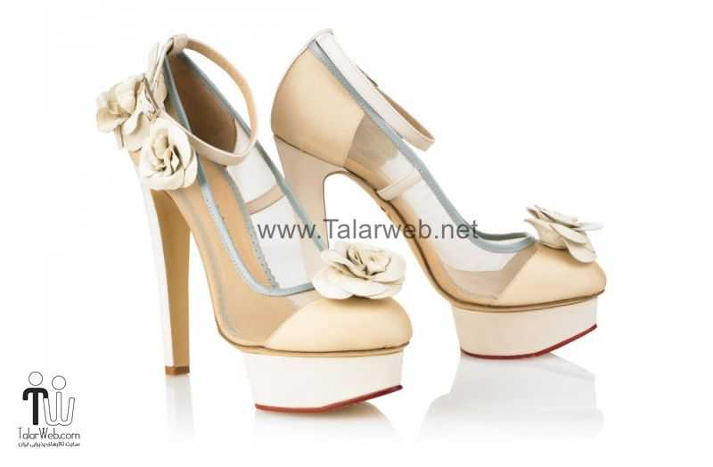 ivory and taupe high heel wedding shoes.full  - مدل های زیبا از کفش عروس