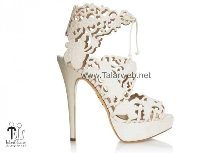 ivory lace bridal booties wedding shoes.full  - مدل های زیبا از کفش عروس