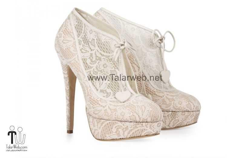 lace bridal booties.full  - مدل های زیبا از کفش عروس