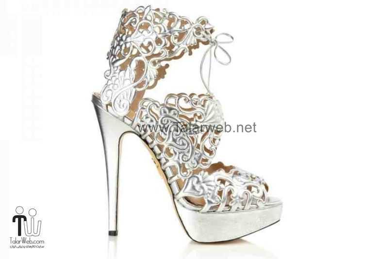 lacy white wedding shoes.full  - مدل های زیبا از کفش عروس