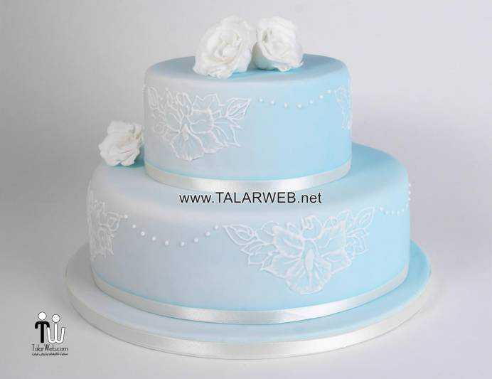 light-blue-and-silver-wedding-cakes