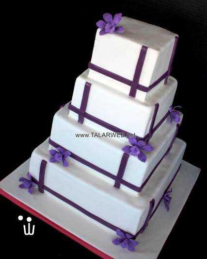 purple orchid wedding cake - کیک های جشن عقد و عروسی