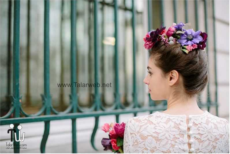 real flowers in bridal hair - مدل گل سر برای عروس