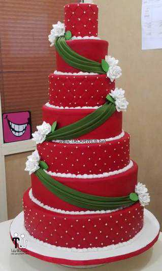 red wedding cake designs - کیک عقد و عروسی