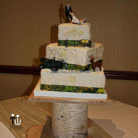 redneck wedding cake topper - کیک های شیک و زیبا برای مراسم عروسی