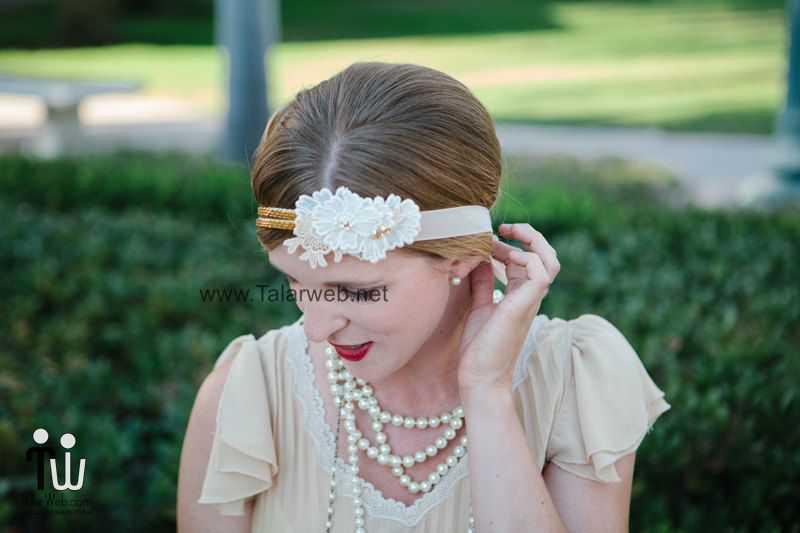 retro inspired daisy wedding headband.full  - مدل گل سر برای عروس
