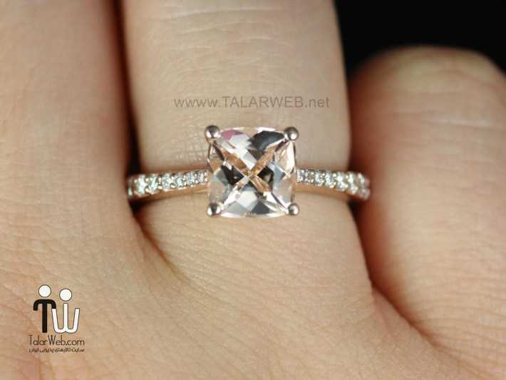 rose gold cushion cut engagement rings - انگشتر نامزدی و ازدواج -سری ۲