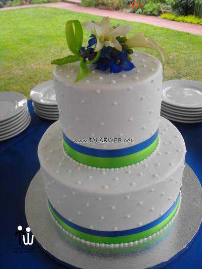 royal blue and green wedding cakes - کیک عقد و عروسی