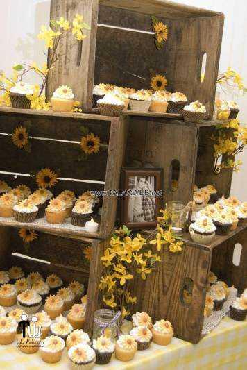 simple country wedding cupcake - کیک عقد و عروسی