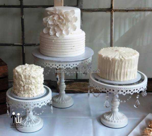 simple non fondant wedding cake ideas - کیک عقد و عروسی