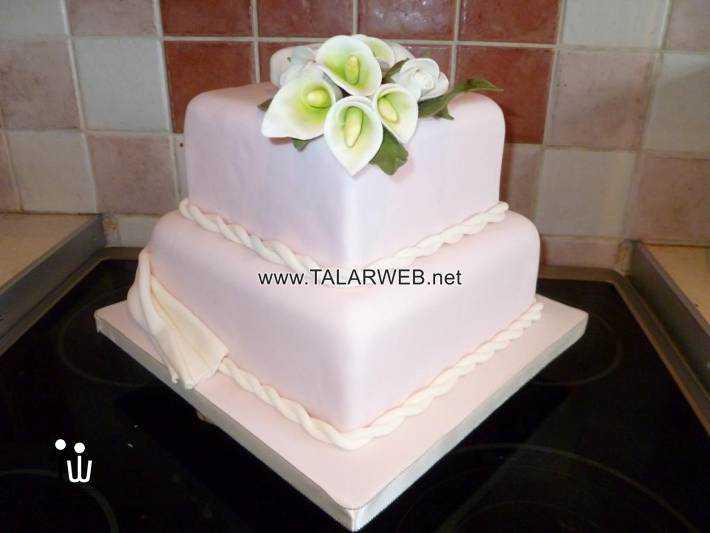 simple square wedding cake ideas - کیک های شیک و زیبا برای مراسم عروسی