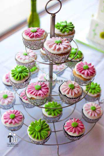 spring wedding cupcake ideas - کیک های شیک و زیبا برای مراسم عروسی