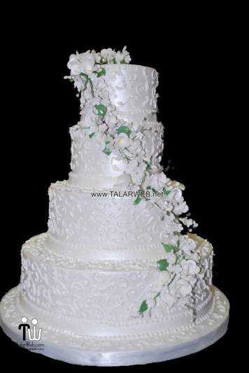 square wedding cake flowers - کیک های شیک و زیبا برای مراسم عروسی