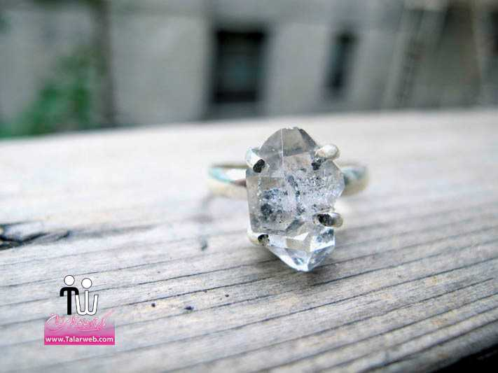 stunning herkimer diamond engagement ring.full  - سری زیبا و شیک مدل انگشتر و حلقه عروس
