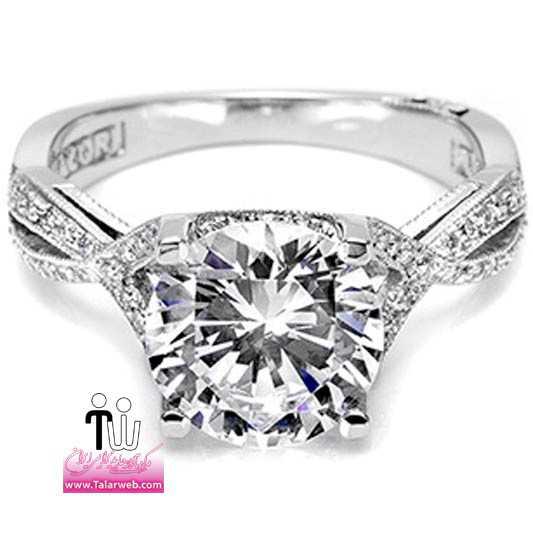 tacori twist pave diamond engagement ring 2565rd wedding rings.full  - سری زیبا و شیک مدل انگشتر و حلقه عروس