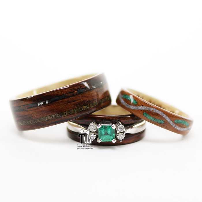 talarweb.net wedding ring 1 - شیک ترین و جدیدترین مدلهای چوبی حلقه  عروس و داماد ۲۰۱۶