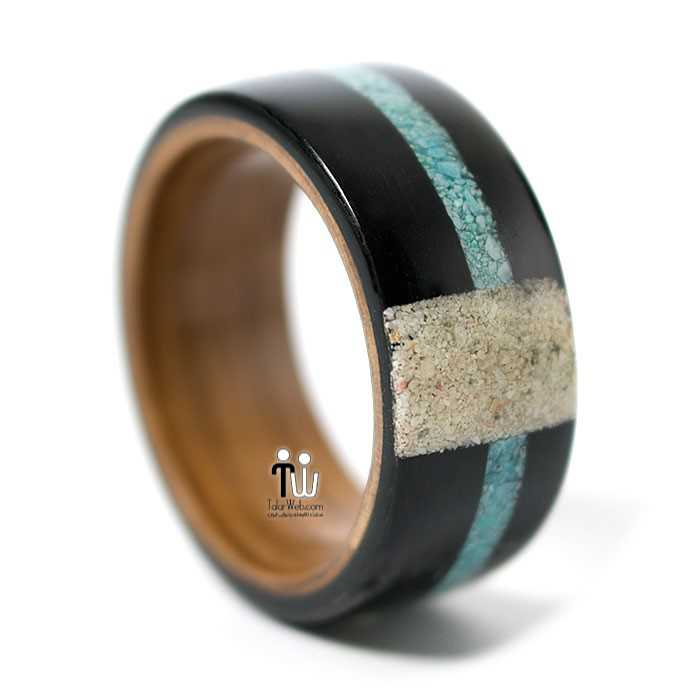 talarweb.net wedding ring 16 - مدل حلقه چوبی دست ساز جدید ۱