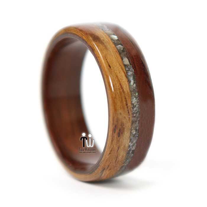 talarweb.net wedding ring 20 - مدل حلقه چوبی دست ساز جدید ۱