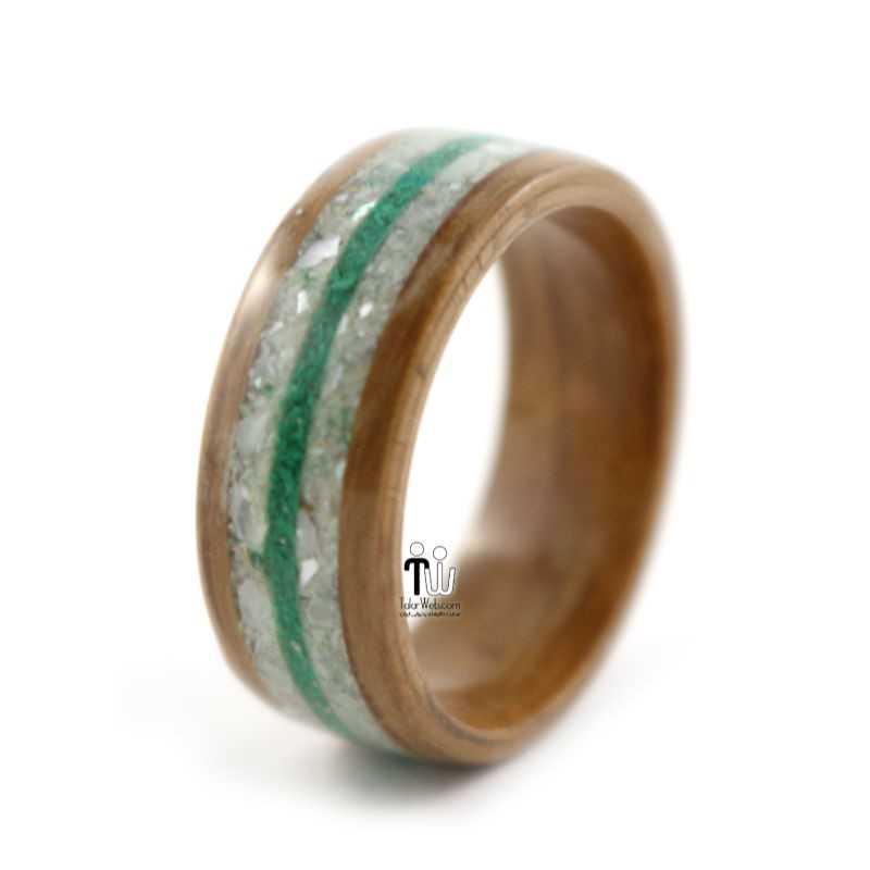 talarweb.net wedding ring 23 - مدل حلقه چوبی دست ساز جدید ۱