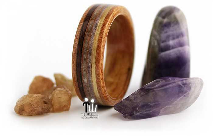 talarweb.net wedding ring 25 - مدل حلقه چوبی دست ساز جدید ۱