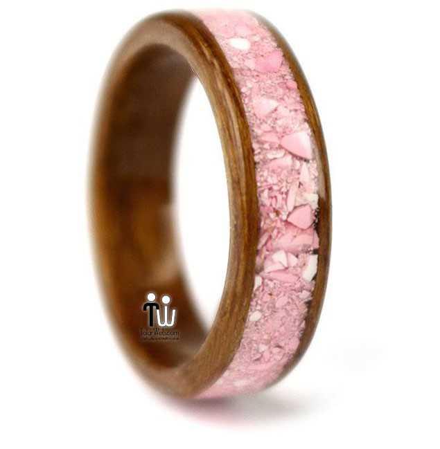 talarweb.net wedding ring 27 - مدل حلقه چوبی دست ساز جدید ۱