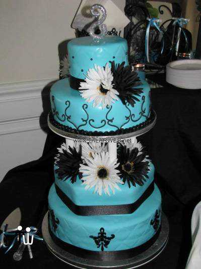 tiffany-blue-and-silver-wedding-cake
