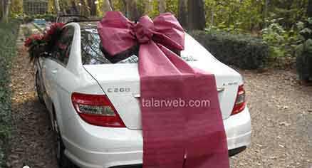 تزئین مدل ماشین عروس ایرانی