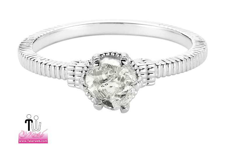 unique engagement ring diamond in the rough 3d285 0.94 a.full  - سری زیبا و شیک مدل انگشتر و حلقه عروس