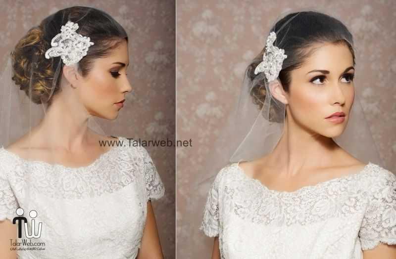 vintage inspired bridal veil art deco.full  - مدل گل سر برای عروس