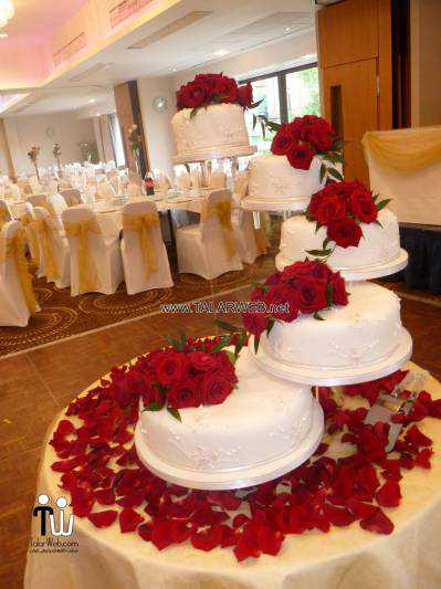 wedding cake designs red - کیک های شیک و زیبا برای مراسم عروسی